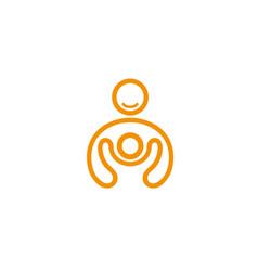 Creative person kid logo vector