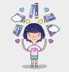 cute girls cartoons vector image