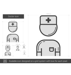 Doctor line icon vector