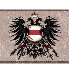 Eagle coat arms vector