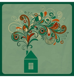 ecology concept with small house vector image vector image