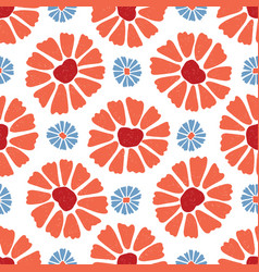 Flower all over print colorful blooms vector