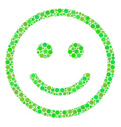 Glad smiley collage of dots vector
