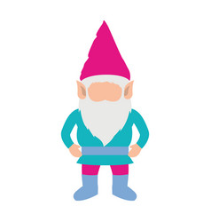 Gnome without face and costume colorful on white vector