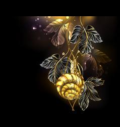 Gold snail vector
