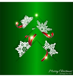 Green Christmas Tree Background vector image