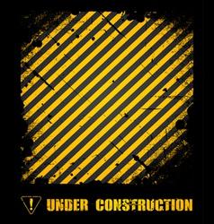 Grunge under construction texture background vector