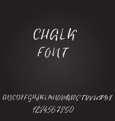 Handwritten chalked font imitation texture vector