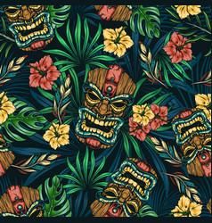 Hawaiian tropical colorful seamless pattern vector