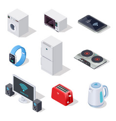 internet things isometric icons household vector image