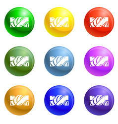 jelly stick icons set vector image