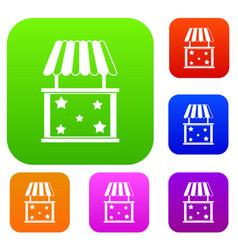 Kiosk set collection vector