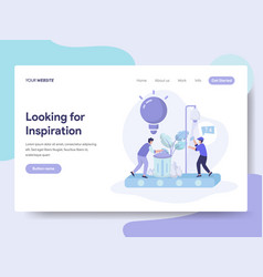 landing page template of looking for ideas and vector image