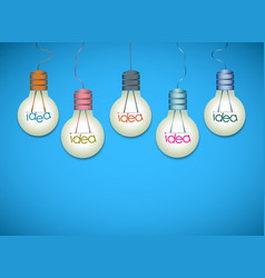 Light bulb idea background vector