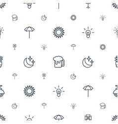 Light icons pattern seamless white background vector