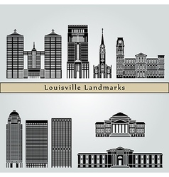 Louisville landmarks and monuments vector