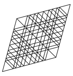 Lozenge rhombus artistic geometric element with vector