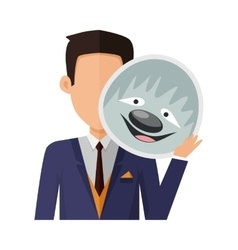 Man with Sloth Mask Flat Design vector image