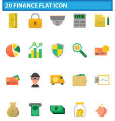 Money flat icon set for web and mobile application vector