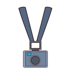 News journalist camera cartoon vector