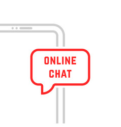 online chat with thin line phone vector image