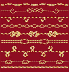 pattern with gold chains fabric design trendy vector image