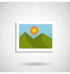 picture icon design vector image