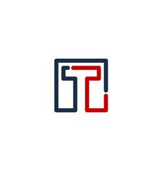 Pixel letter t logo icon design vector