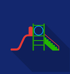 playground slide icon in flat style isolated on vector image