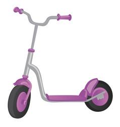 roller scooter balance bike cartoon cute color vector image