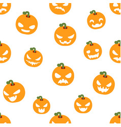 Seamless halloween party pumpkin decoration scary vector