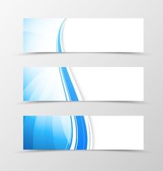 Set of header banner dynamic wavy design vector image
