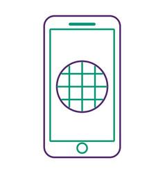 Smartphone gps navigation screen blank app vector