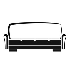 sofa icon simple style vector image