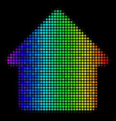 Spectrum pixel house icon vector