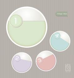 Sticker Label color set Vintage style vector