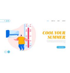 Summer extreme hot weather summertime season vector