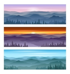 Sunrise at mountains sunset backgrounds vector image