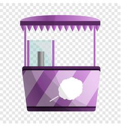 Sweet cotton kiosk icon cartoon style vector