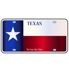 Texas state flag license plate vector