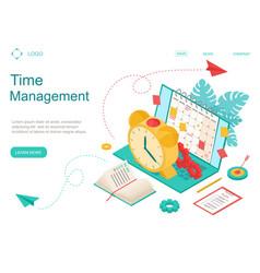 time management concept landing web page template vector image