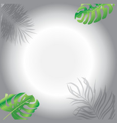 tropical leaves scrapbook frame and border vector image