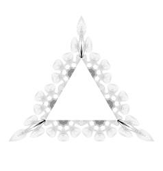 Vintage Triangle Frame vector