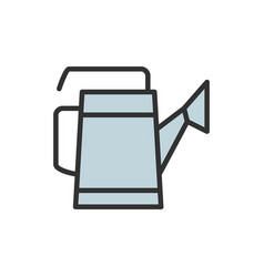 watering can flat color line icon vector image