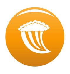 wave water icon orange vector image