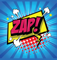 Zap comic speech bubble vector