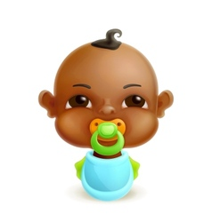 African baby icon vector image