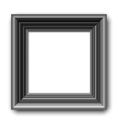 Black picture frame vector