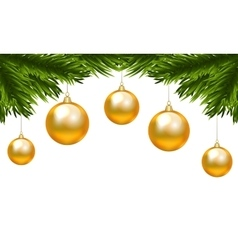 Christmas isolated branch vector image
