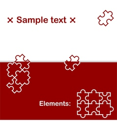 Background with puzzle elements vector image vector image